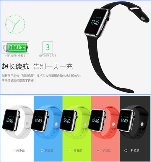 Apple Watch Clone - 168 Hours Battery