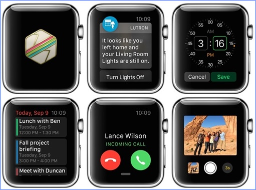Apple Watch - interfaces 1