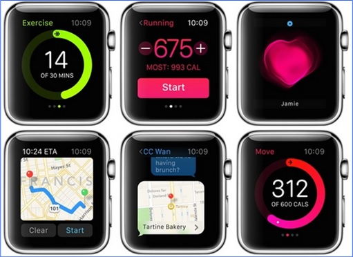 Apple Watch - interfaces 2
