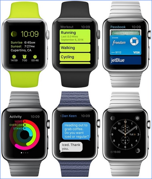 Apple Watch - multiple straps colours and interfaces