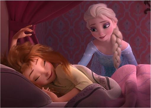 Frozen Fever - Elsa Waking Up Anna