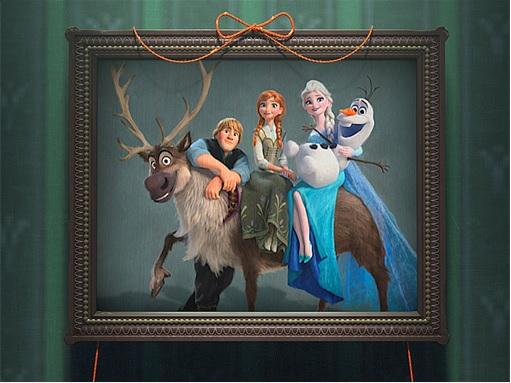 Frozen Fever - Photo Frame of Elsa, Anna, Olaf