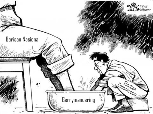 Gerrymandering - Election Commission Washing Barisan Nasional Feet