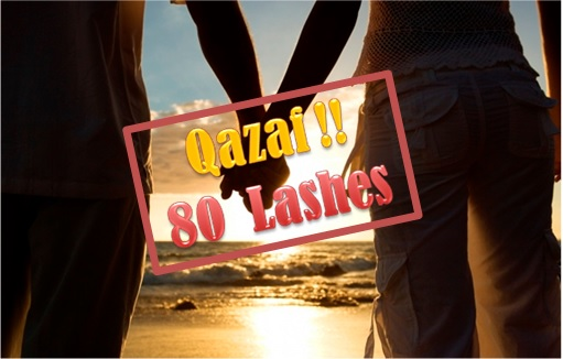 Hudud Law - Holding Hand Qazaf - 80 Lashes