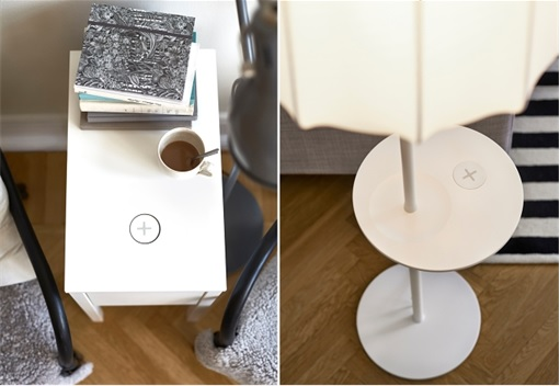 IKEA Wireless Charging Furniture - Stand Lamb and Table