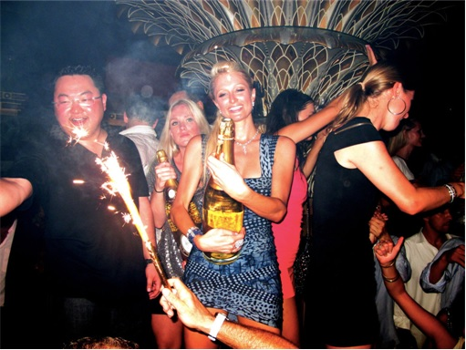 Jho Low With Paris Hilton Partying