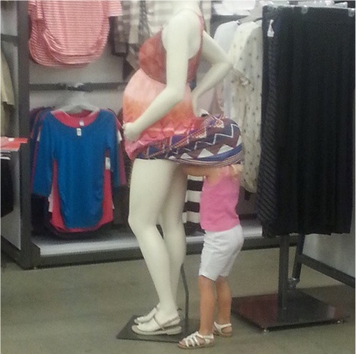 Kids Are The Worst - Checking out Pregnant Model