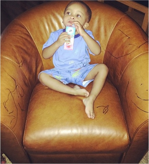 Kids Are The Worst - Drink Juice After Drawn on Sofa