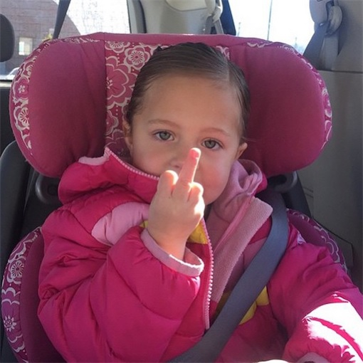 Kids Are The Worst - Giving Middle FingerKids Are The Worst - Giving Middle Finger