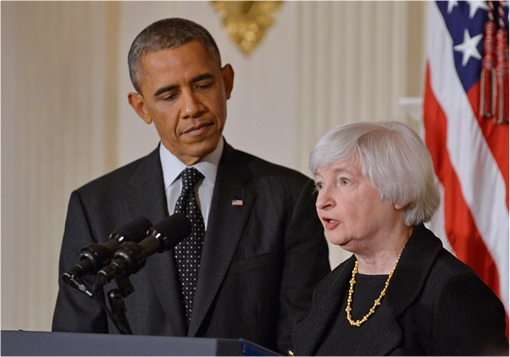 President Barack Obama and Fed Chair Nominee Janet Yellen