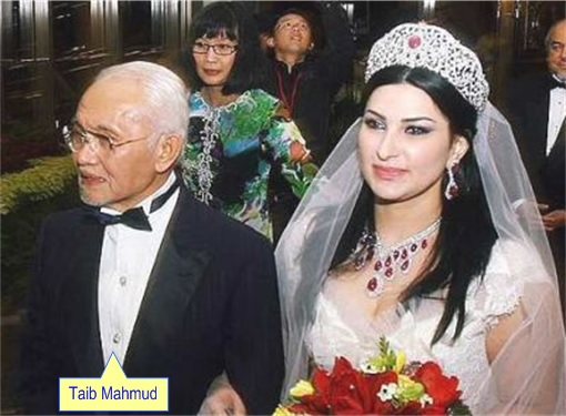 Sarawak Chief Minister Taib Mahmud and New Wife