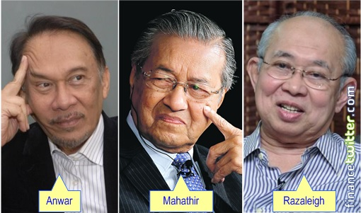 Anwar and Mahathir and Razaleigh