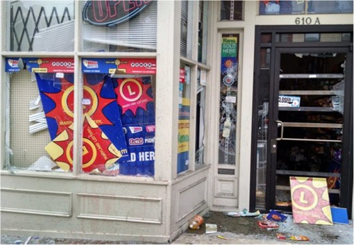 Baltimore Riots - Looted Shop