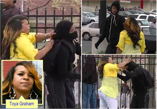 Baltimore Riots - Toya Graham Smacked Rioting Son