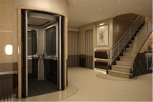 Boeing 747-8 Private Jet - Aerolift elevator option