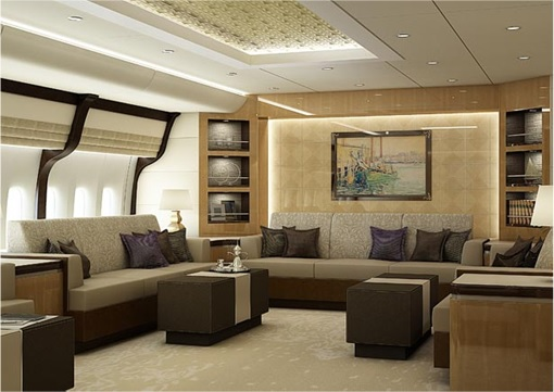 Boeing 747-8 Private Jet - Another Lounge Design