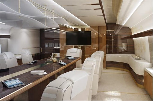 Boeing 747-8 Private Jet - Conference Room