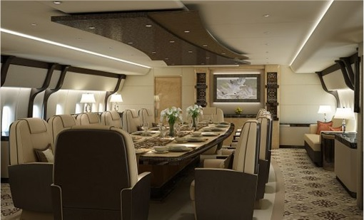 Boeing 747-8 Private Jet - Dining
