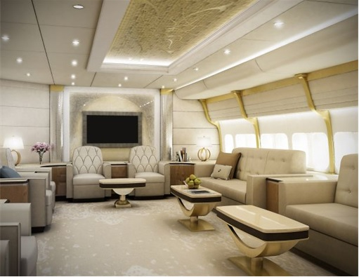Boeing 747-8 Private Jet - Main Lounge 2