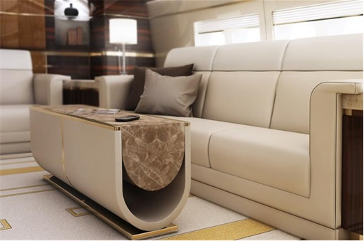 Boeing 747-8 Private Jet - Main Lounge - Zoom