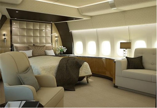 Boeing 747-8 Private Jet - Main Stateroom 2