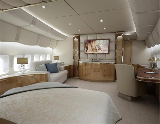 Boeing 747-8 Private Jet - Main Stateroom - Another Angle
