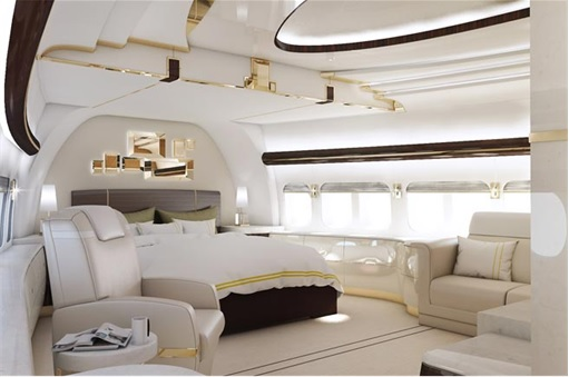 Boeing 747-8 Private Jet - Main Stateroom