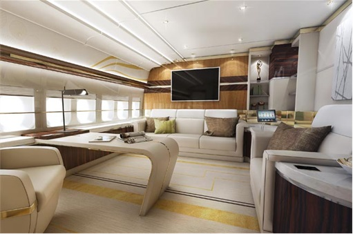 Boeing 747-8 Private Jet - Private Office