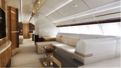 Boeing 747-8 Private Jet - Upper-deck Lounge