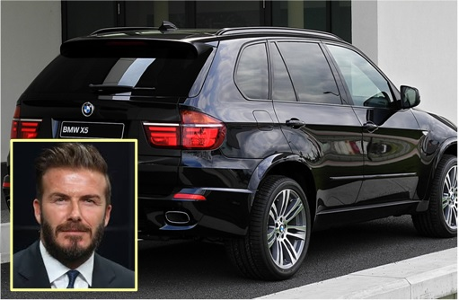 Car Theft - David Beckham BMW X5 at Spain