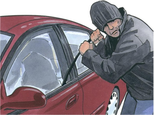 Car Theft - Illustration
