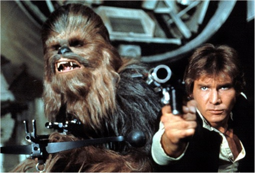 Han Solo and Chewbacca - 1983
