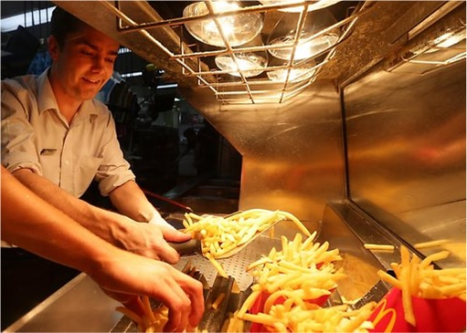 McDonald's Workers - Making French Fries