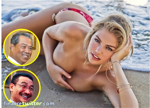 Muhyddin and Hishammuddin Staring at Kate Upton body