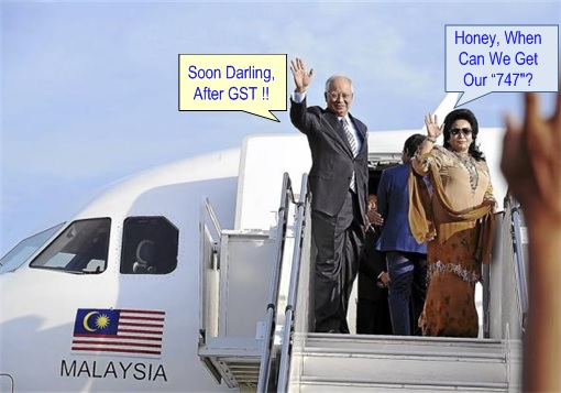 Najib Razak and Rosmah Mansor - Getting Boeing 747-8