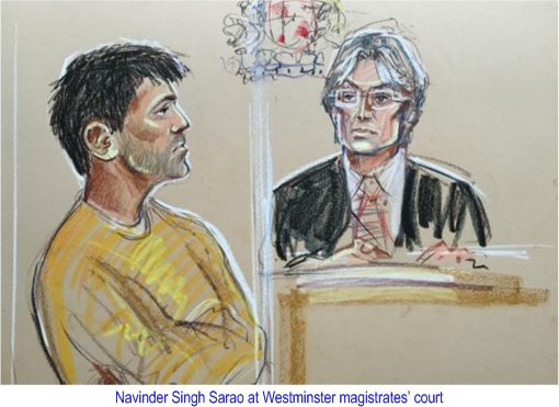 Navinder Singh Sarao  - Charged at Westminster Court - Graphic