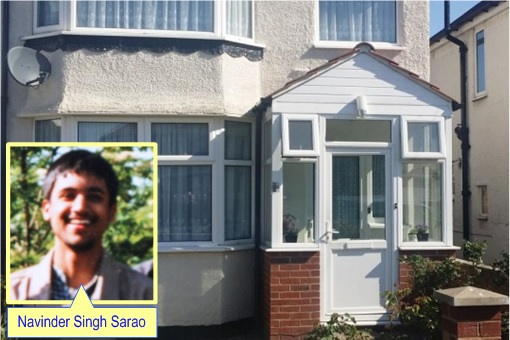 Navinder Singh Sarao Parents Home - Inset Photo