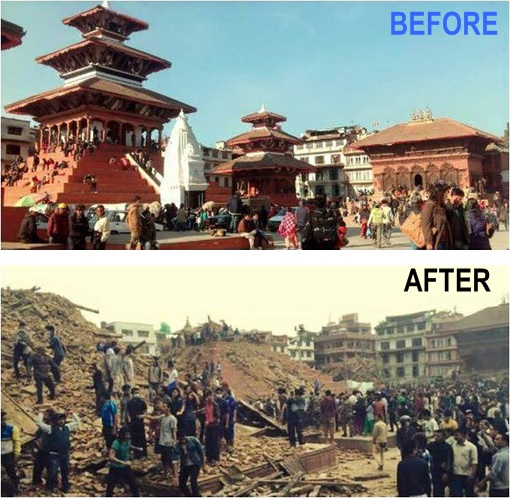 Nepal 2015 Earthquake - Before and After - 1