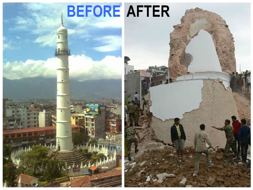 Nepal 2015 Earthquake - Before and After - 2