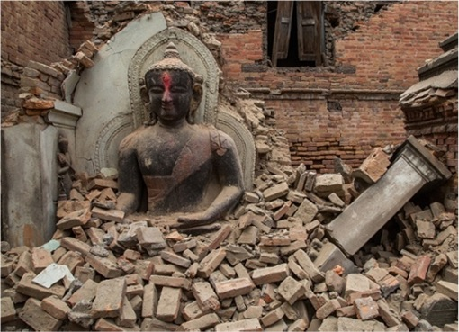 Nepal 2015 Earthquake - Buddha Statue