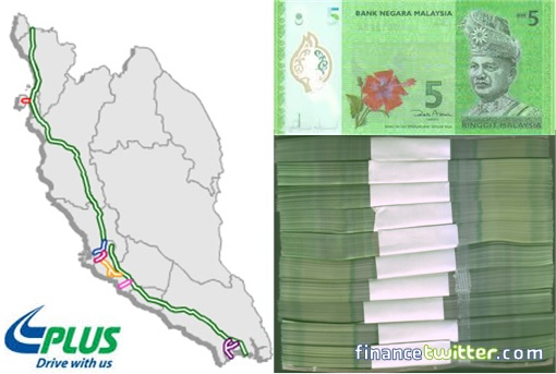 1MDB RM42 Billion - Stacked RM5 Notes Longer Than PLUS Expressway