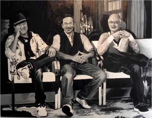 Anwar vs Mahathir vs Najib - Painting