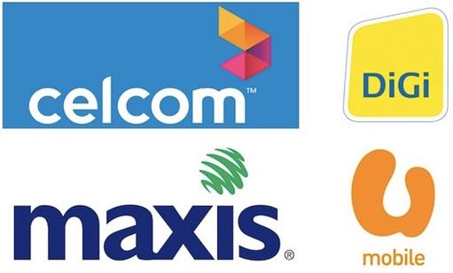 Celcom - Maxis - DIGI - UMobile