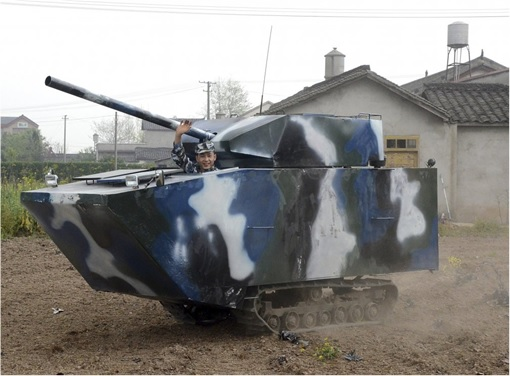 China Inventions - Homemade Tank