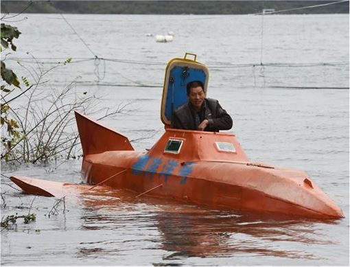 China Inventions - Submarine - Floating