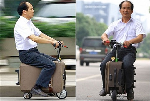 China Inventions - Suitcase Scooter