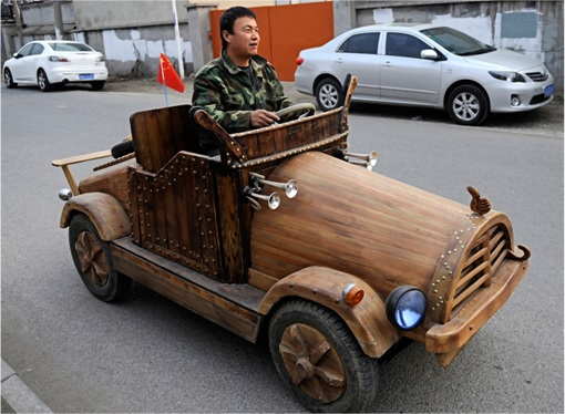 China Inventions - Wooden Electric Car