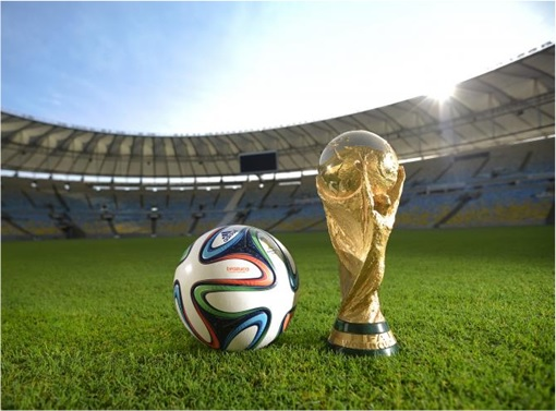 FIFA Corruption Scandal - Trophy and Soccer Ball on Field