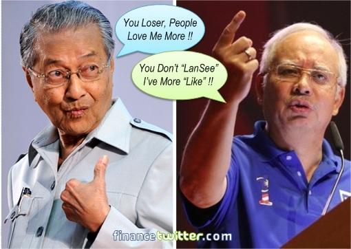 Facebook Personality - Mahathir vs Najib