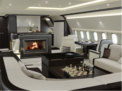 Fireplace For Private Jets - Jet Aviation